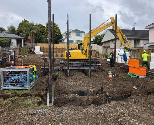 flood zone screw piling