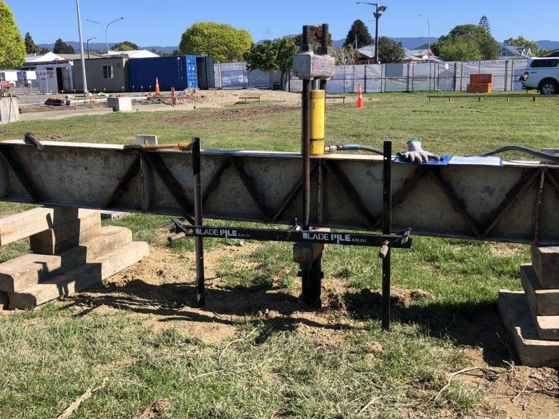 Motueka Library - Earthquake Strengthening Blade Pile New Zealand