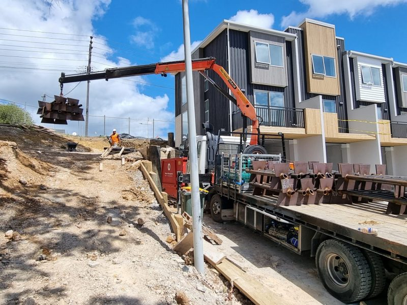 West Auckland Retaining Wall - Soft Ground Blade Pile New Zealand